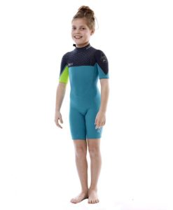 Jobe Boston Shorty 2mm Wetsuit Kids Teal Blue 2018