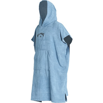 Billabong Hooded Poncho Cascade Blue