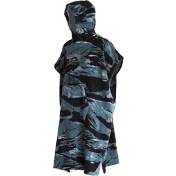 Billabong Hooded Poncho Black Camo