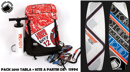 PACK LIQUID FORCE 2010 KITE + TABLA
